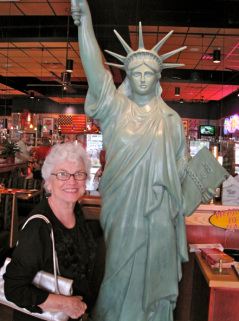 My Mom, Patsy Dunlop, with Lady Liberty