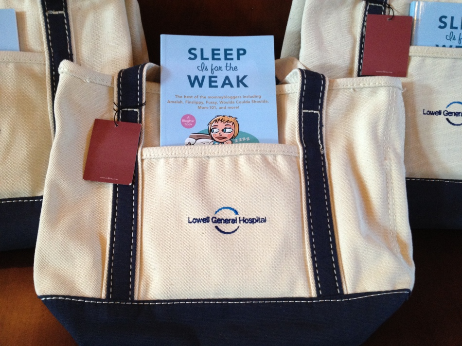 Swag for the bloggers who attended our event.