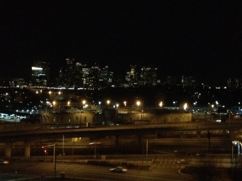 The view of Boston upon my return to the hotel. Long day.