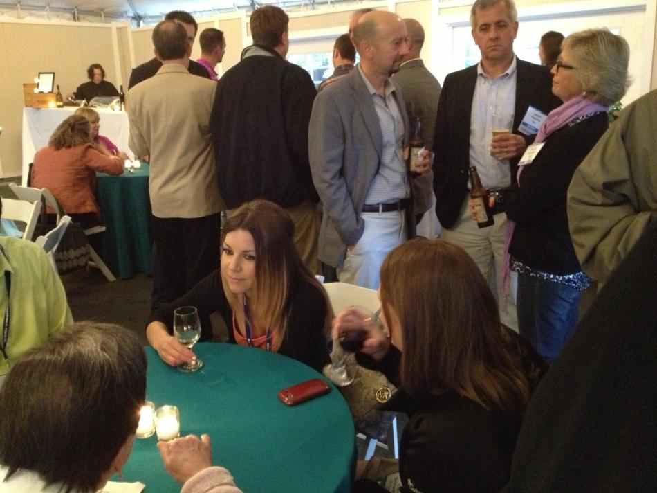 A Festive Gathering at the Newport Vineyard.