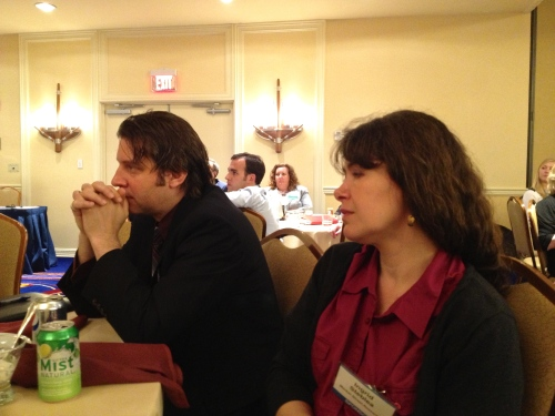 Jeff and Ingrid during the powerful Boston Marathon Bombing Crisis Communication Session