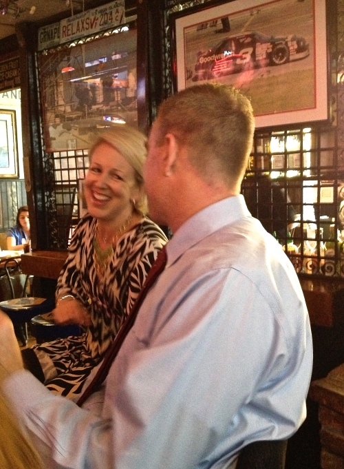 Paige Zinn and Tim Brennan at the Brick Alley
