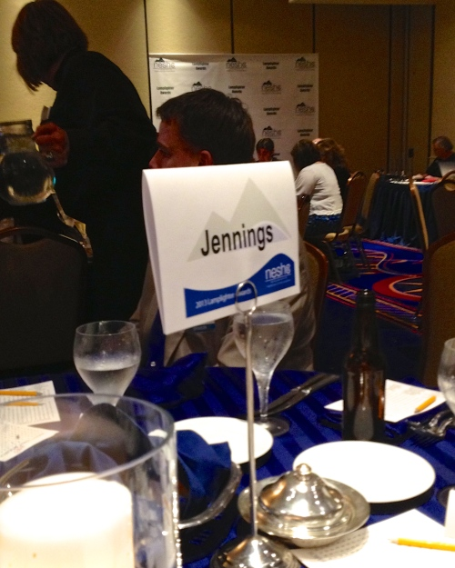 One of the Jennings tables at the Lamplighter Dinner