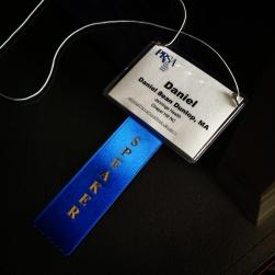 Speakers badge