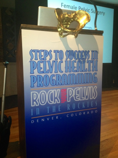 Speaking at the Pelvic Health Conference in Denver - March