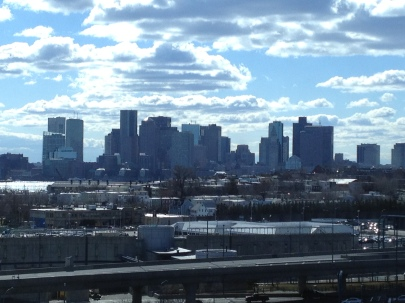 View from my hotel at Logan Airport/Boston