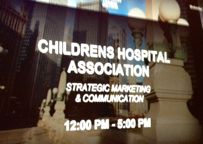 Speaking at the Children's Hospital Association Mtg - October