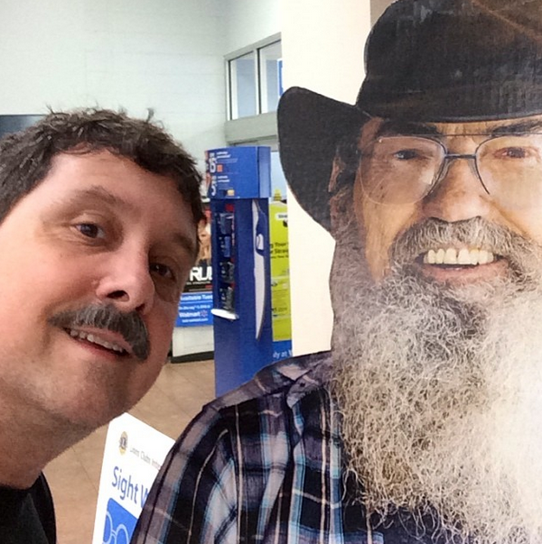 With Uncle Si Robertson. No idea where or why.