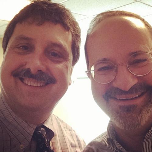 With Steve Gordon of Brattleboro Memorial Hospital in Vermont.