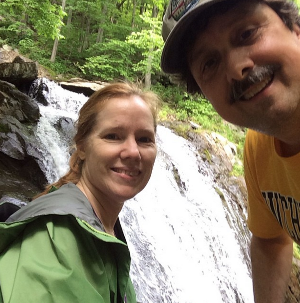 Hiking with Scotti in the mountains of Virginia. Bliss.