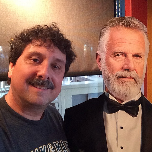With the most interesting man in the world. No explanation needed.