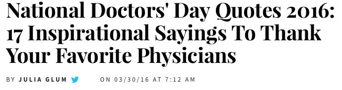 Today Is National Doctors Day Among Other Things The Healthcare